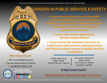 Careers in Public Service and Safety