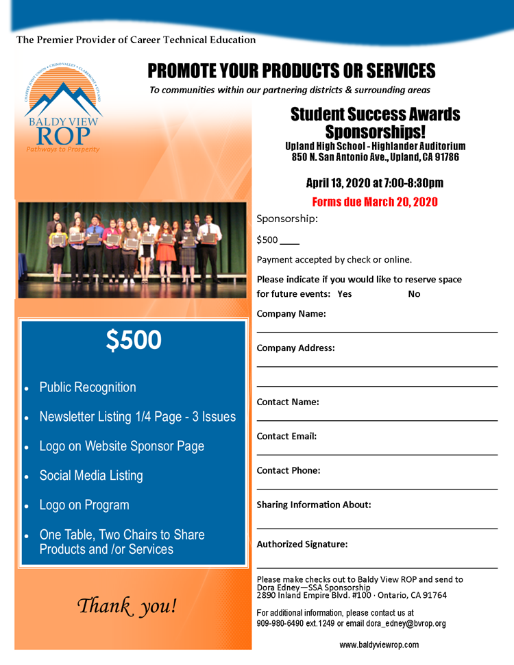 Donate_Student Success Awards Sponsorship_Flyer_PNG